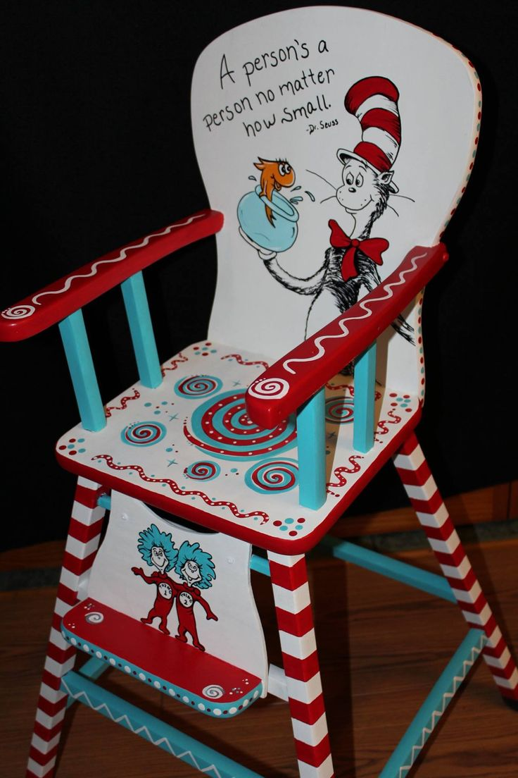 Hand painted Dr. Seuss chair by Jody Rife
