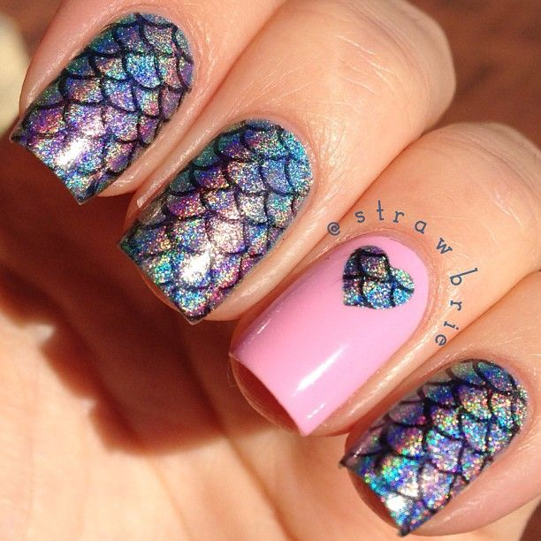 Mermaid Scales Nail Art The Digit Al Dozen Does New Improved Day