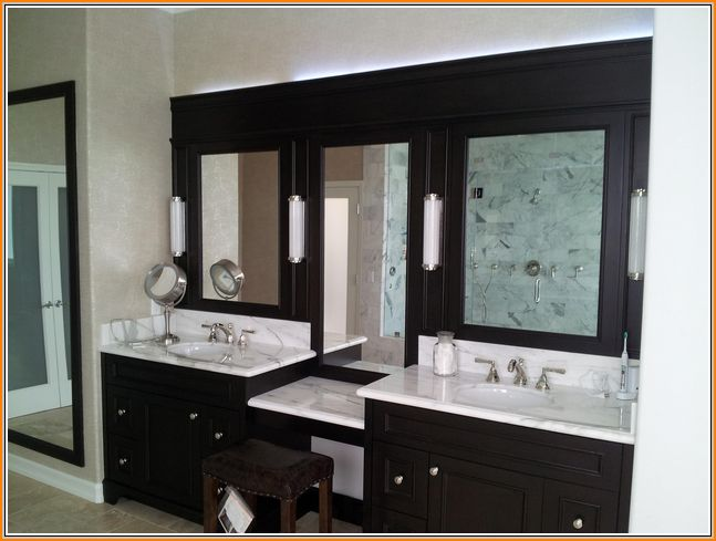 Best Photo Gallery For Website Home Decorators Collection Hamilton in W x in D Corner Bath Vanity in Ivory with Granite Vanity Top in Grey