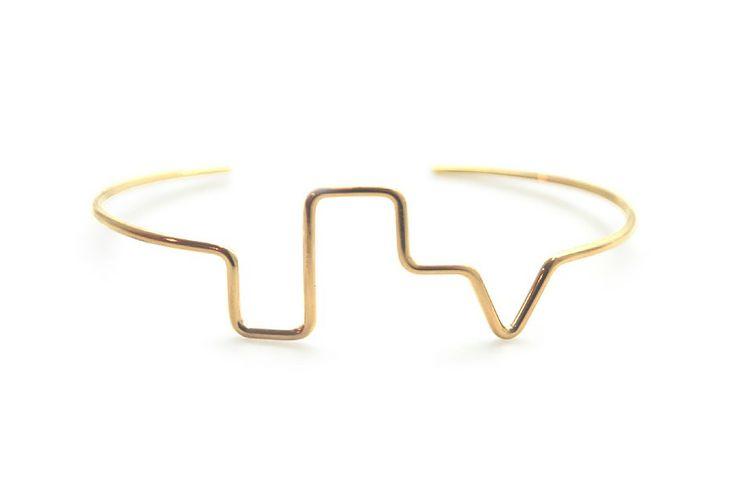 Skyline Bracelet - Gold by Malene Glintborg