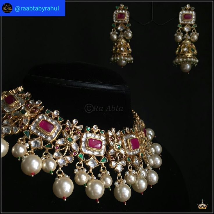 @raabtabyrahul. This one has a power to make you feel unique. #raabtabyrahul #timeless #jewels #bridal #jewels #exquisite #necklaceset