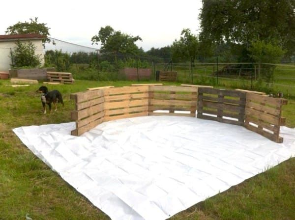 DIY pallet swimming pool upcycle