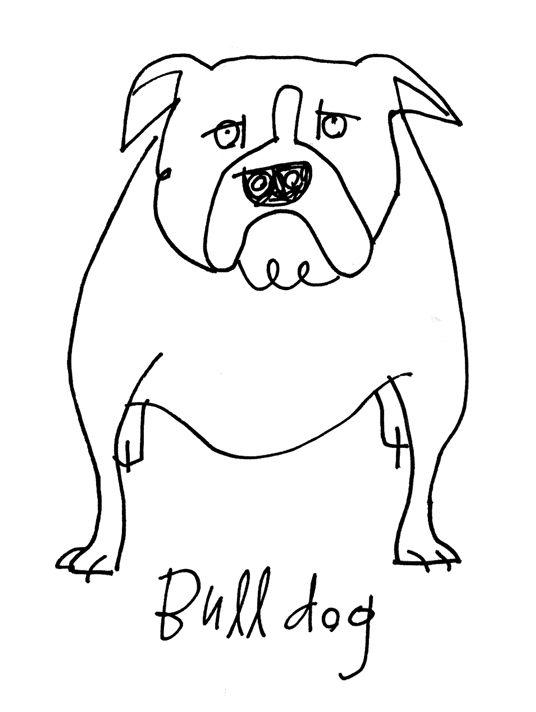 Bulldog  copyright Alanna Cavanagh 2013 #illustration #dog
