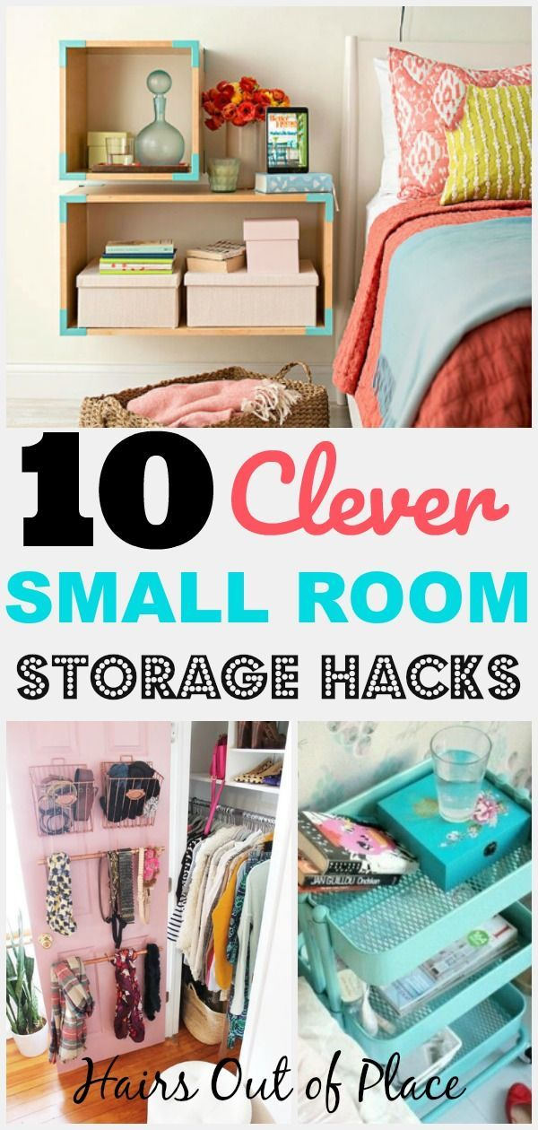 10 Bedroom Organization Hacks That Ll Keep Your Small Space Tidy Hairs Out Of Place Small Room Storage Small Bedroom Organization Bedroom Organization Diy