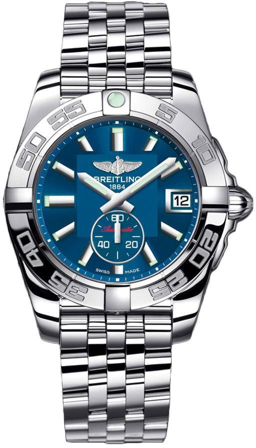 Breitling Watch Galactic 36 Automatic Gun Blue #bezel-unidirectional #bracelet-strap-steel #brand-breitling #case-depth-12-3mm #case-material-steel #case-width-36mm #date-yes #delivery-timescale-call-us #dial-colour-blue #gender-ladies #luxury #movement-automatic #official-stockist-for-breitling-watches #packaging-breitling-watch-packaging #sku-btl-202 #subcat-galactic #supplier-model-no-a3733012-c824-376a #warranty-breitling-official-2-year-guarantee #water-resistant-100m