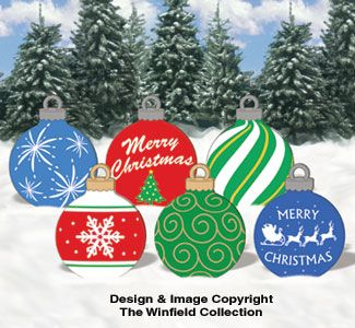 Plywood Holiday Yard Decoration Patterns | Holiday Signs - Large Ornaments #1 Woodcraft Pattern