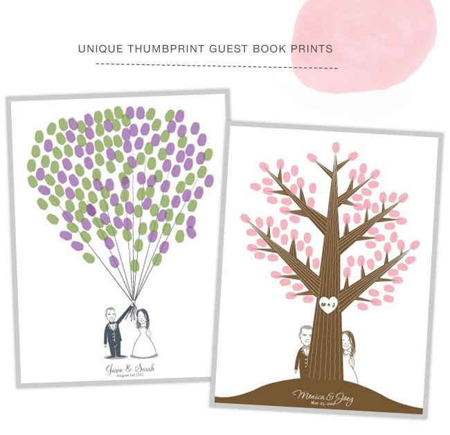 more cute thumbprint guest books