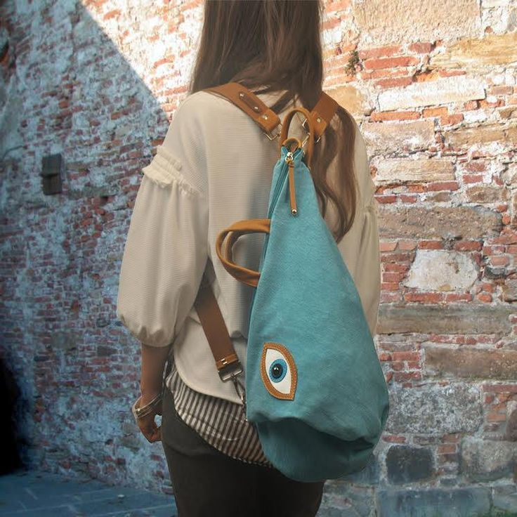 Handmade convertible ,backpack,shoulder ,cross body bag ,in canvas-leather,named MATI by iyiamihandbags on Etsy