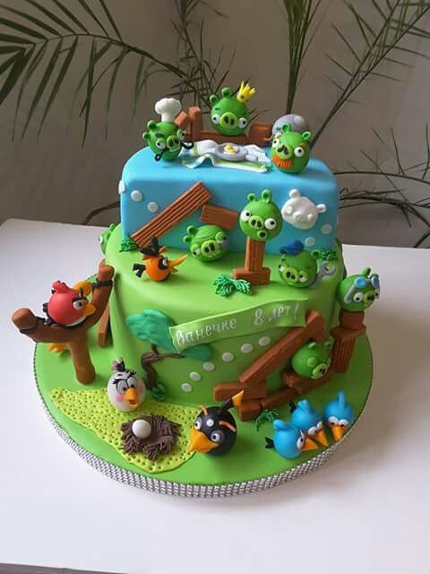 Tremendous Angry Birds Cakes Decoration Ideas Little Birthday Cakes Karas Funny Birthday Cards Online Overcheapnameinfo