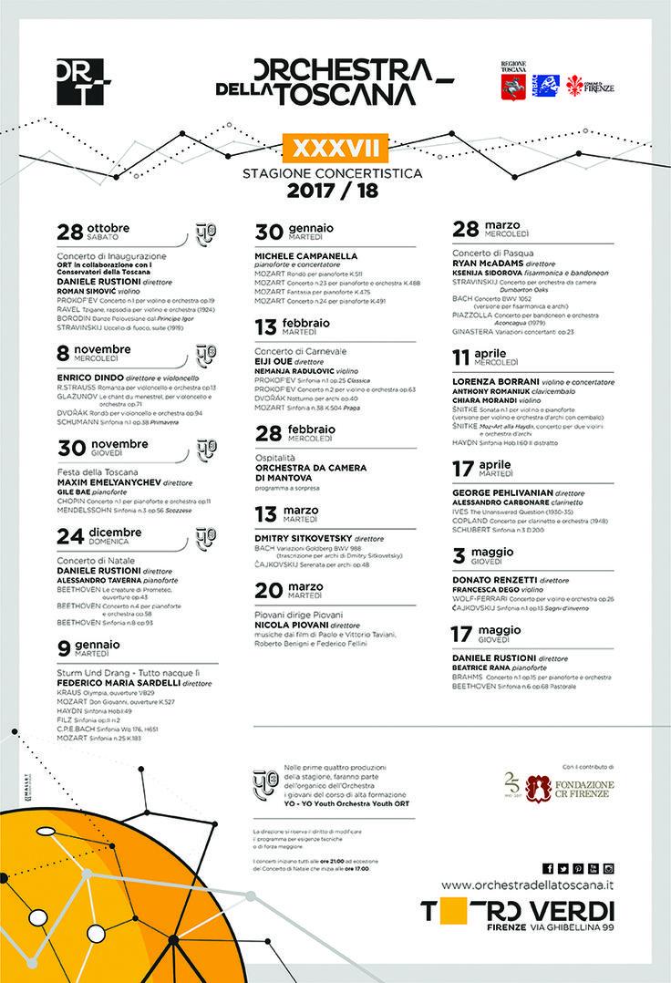 ORT | Manifesto Calendario 2017_2018 | grafica Studio Mallet