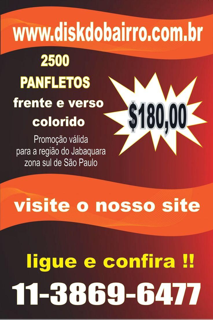 DISK DO BAIRRO: 2500 PANFLETOS COLORIDO FRENTE E VERSO !! SÓ $180,...
