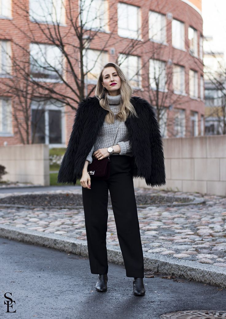 sandraemilia, outfit, fashionista, fashion, ootd, fake fur, fluffy jacket 3