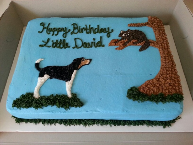 Coon Hunting Cake Cason Birthday Party Ideas