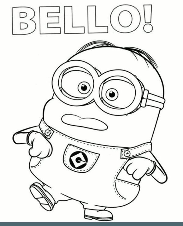 Bello Clumsy Minion To Color To Print For Free Minions Coloring Pages Minion Coloring Pages Coloring Books
