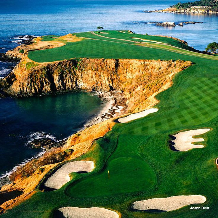 Hole #8, Pebble Beach Golf Links, 428 yard Par 4, Handicap #6, Pacific Ocean, Monterey Peninsula, CA