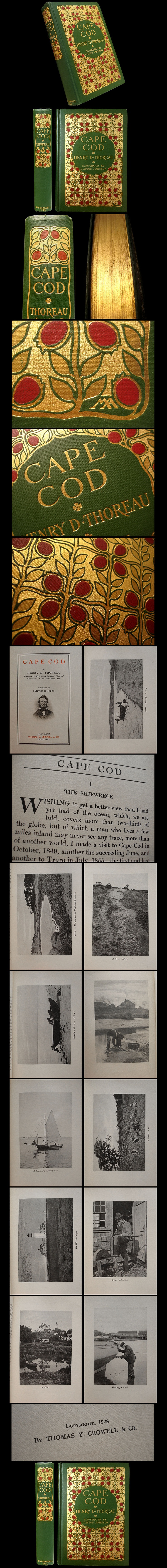 1908 Cape Cod by Henry David Thoreau - Margaret Armstrong Binding