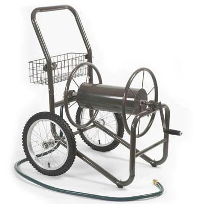 Two Wheel Hose Cart Bronze