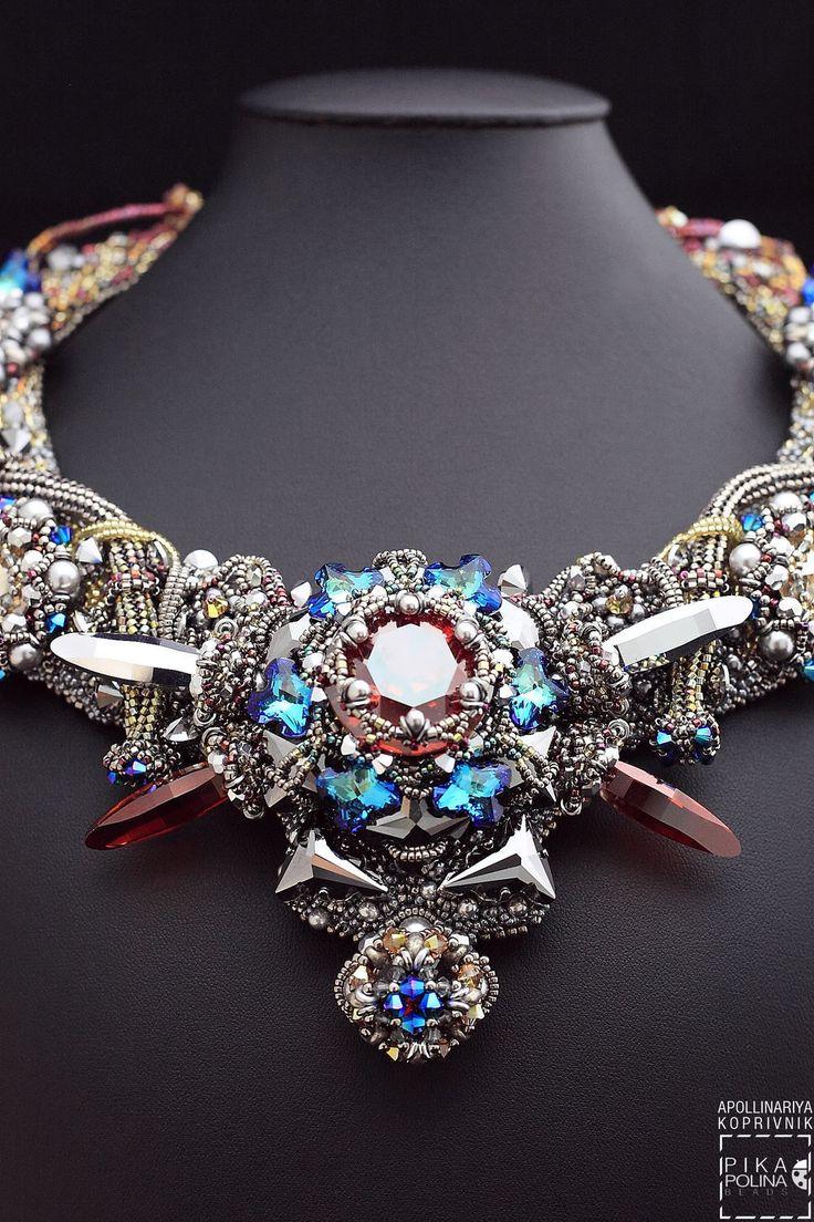 """Купить Колье """"Моя Религия"""" - серебряный, сила знаков, украшение из бисера, колье ручной работы"""