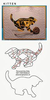 Iris Folding: Playful kitten