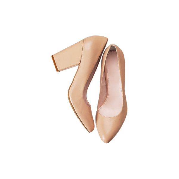 H&M nude pumps ❤ liked on Polyvore featuring shoes, pumps, heels, h&m, nude footwear, heel pump, nude court shoes, nude heel shoes and nude pumps