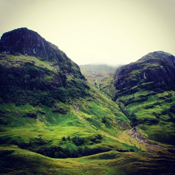 The stunning and extremely mystical Glencoe in the Scottish Highlands - (explore your biking wanderlust on www.motorcyclescotland.com)