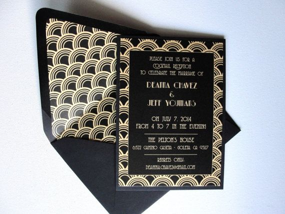 140 best images about Wedding Invitations – Art Deco Party Invitations