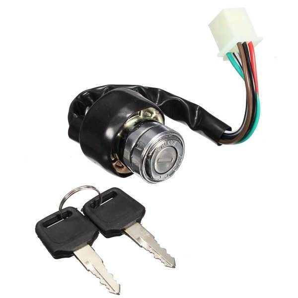 6 Wire Ignition Switch 2 Keys Universal For Car Motorcycle Scooter Bike Quad Go-Kart  Worldwide delivery. Original best quality product for 70% of it's real price. Buying this product is extra profitable, because we have good production source. 1 day products dispatch from warehouse. Fast...