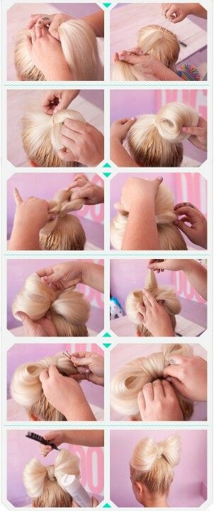 Pretty hair bow.....theres a video on this on youtube its here- http://www.youtube.com/watch?v=AXRsJy9Rzdc=SPD4D5DE6CCCF00AF4=46. she also has lots of other awsm hairstyles....check out her page #bebexoxo