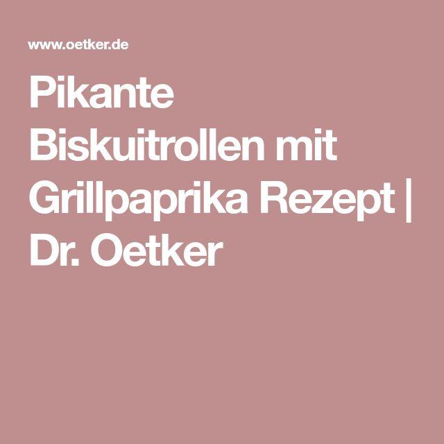 Pikante Biskuitrollen mit Grillpaprika Rezept   Dr. Oetker