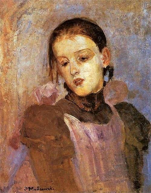 Jacek Malczewski - Portrait of the artist's daughter, ca.1900.