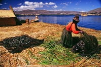 Floating island at Lake Titicaca....why wasn't I there now?