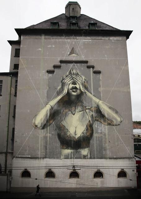 Faith47 - The Immense Gap Between Past and Future  New Mural In Vienna, Austria StreetArtNews