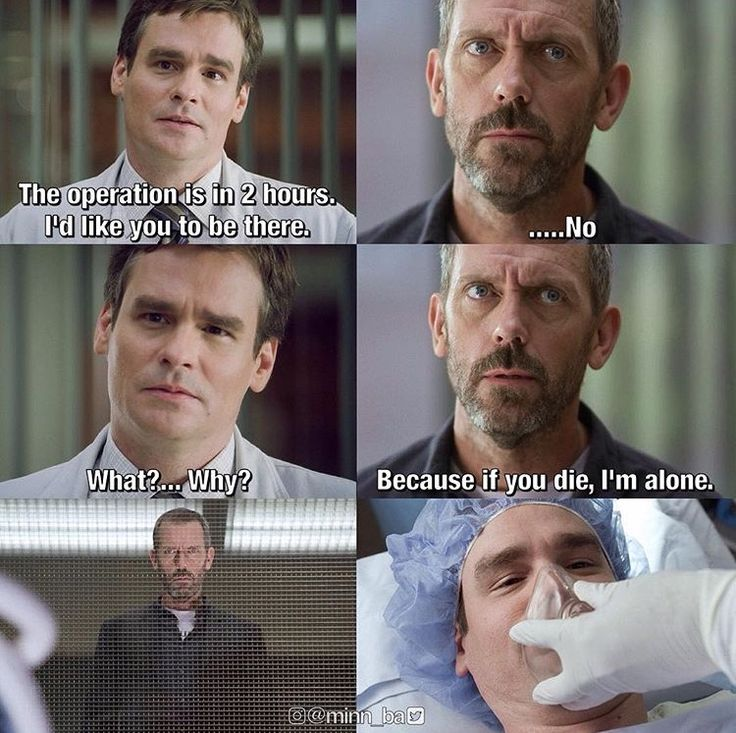 Hugh Laurie as House and Robert Sean Leonard as Wilson in House, MD.