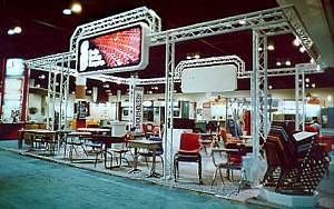 Exhibit Booth Stand in Custom White Color