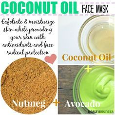 Add a spicy twist to your coconut oil face mask with nutmeg. The spice is superb for skin health.