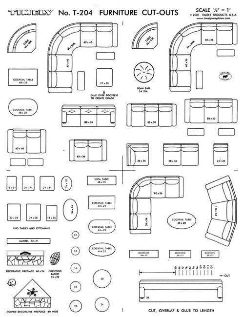 Room Floor Plan Designer Free: FURNITURE ARRANGING KIT 1/4 Scale Interior Design