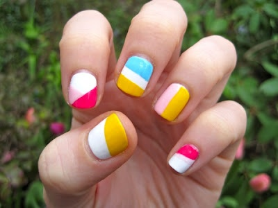 colorblocked nails!Colors Block Nails, Nails Art Ideas, Nails Design, Colors Nails, Easter Eggs, Neon Nails, Nails Art Design, Easter Nails Art, Bold Colors