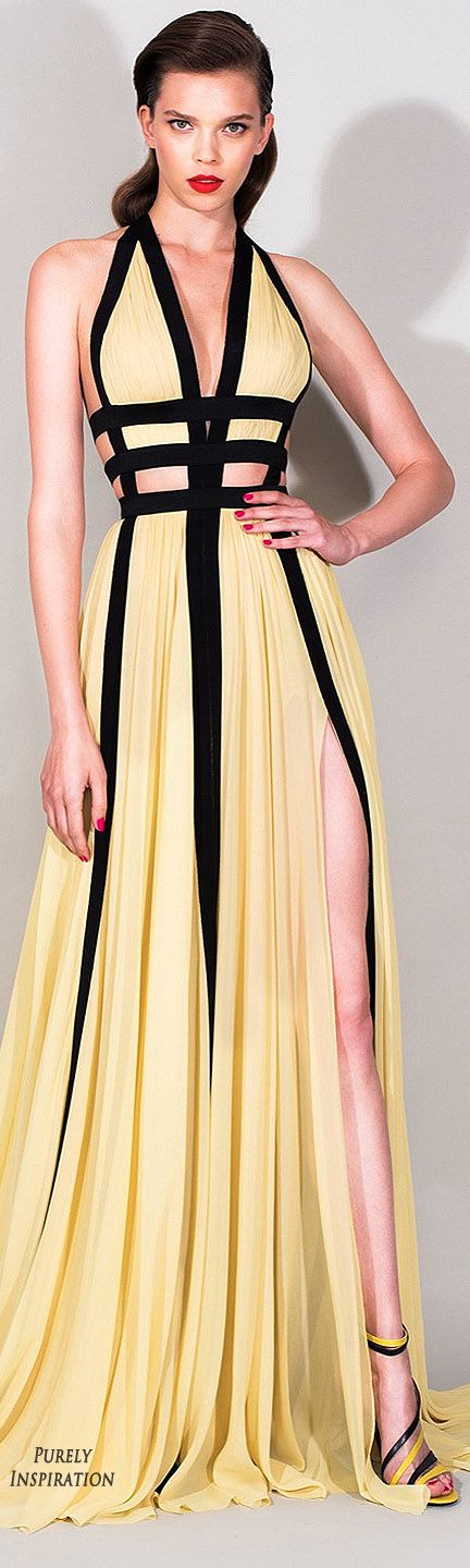 Zuhair Murad Resort 2016 Women's Fashion RTW | Purely Inspiration  Love the top half of this. Don't need the slit.