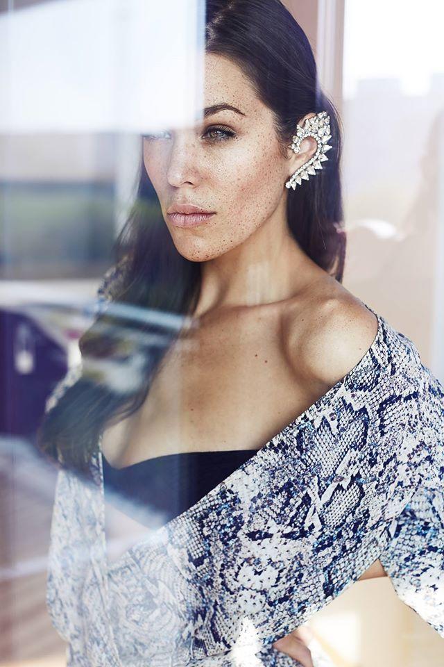 Bridal Asymmetric Earrings with Clips ~ Clear Crystal