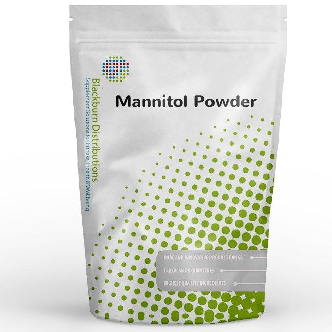 Consumption of foods/drinks containing it instead of sugar induces a lower blood glucose rise after their consumption compared to sugar-containing foods/drinks. http://www.blackburndistributions.com/mannitol-powder.html
