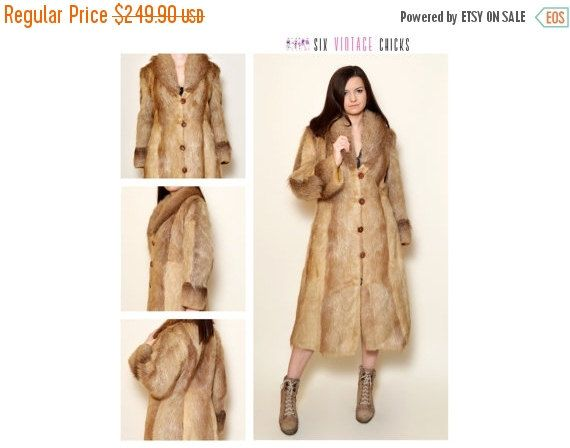 40% Off Xmas Sale Fur Coat, 80's Sexy Vintage Coat, Classic Style Elegant Coat, Vintage Woman's Clothing Size M/38 Gift idea for her, Free S by SixVintageChicks on Etsy
