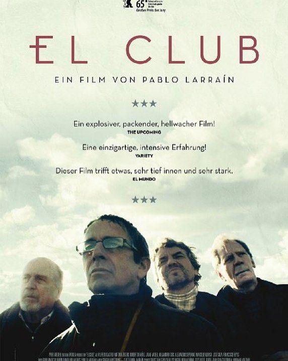 940222  فیلم  The Club (2015)  ریت بالای 7 از IMDB داستان فیلم در مورد یک کودک آزار اهل شیلی است که بعد از مدتی منزوی شده و می خواهد خطاهای خود را جبران کند
