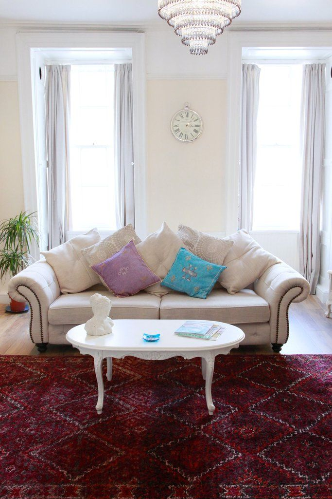 Beni M\'Guild rug beautifully matching a classical sitting room ...