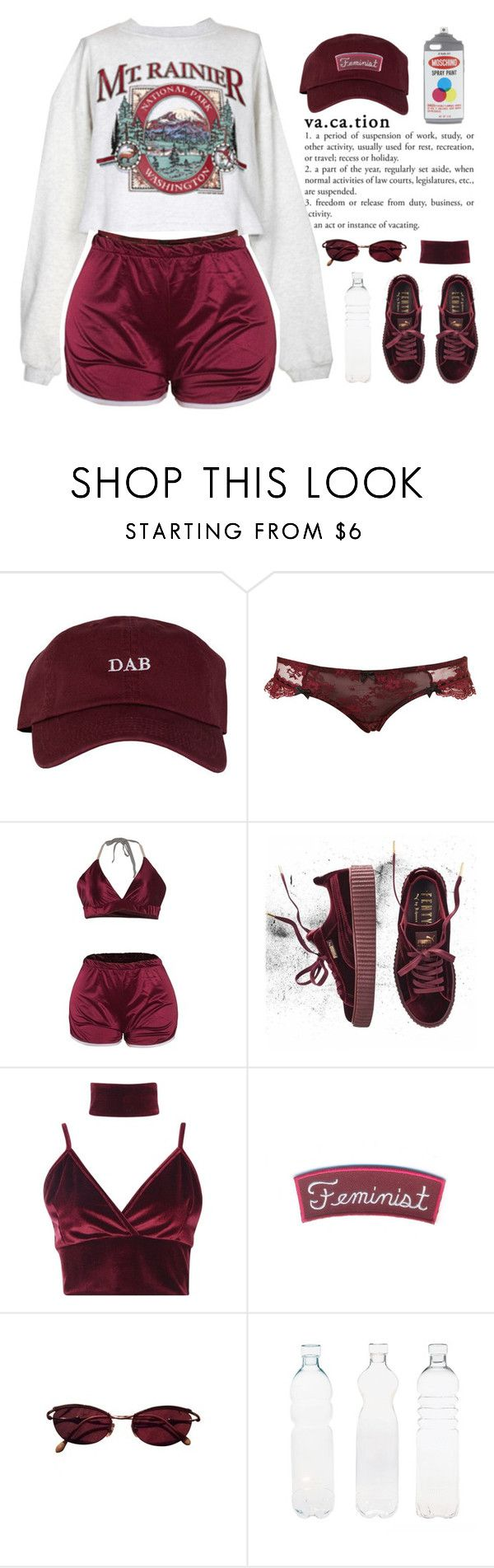 COMFY FEMINIST by queenbrittani ❤ liked on Polyvore featuring The High Rise, Puma, Boohoo, Jean-Paul Gaultier, Seletti and Moschino