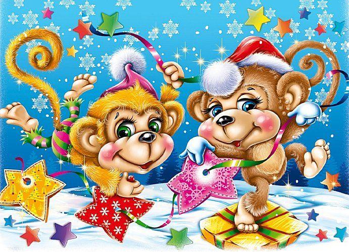 Прикольные картинки с обезьянами к новому году
