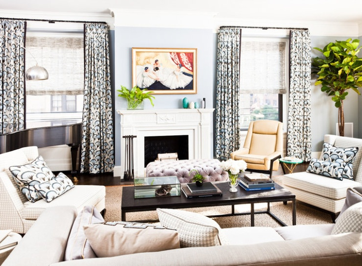 love this Tom Filicia living room