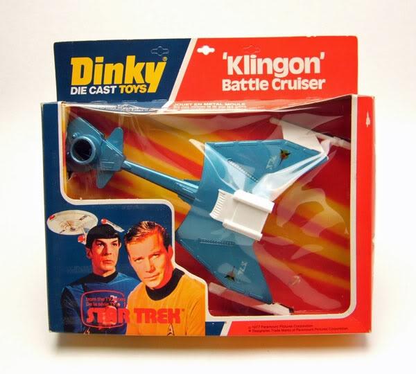 Klingon Battle Cruiser by Dinky Toys.
