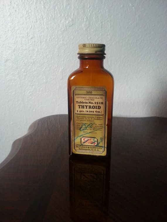 Vintage Eli Lilly & Company Thyroid Medicine by vintagekettle, $12.00 {omg, why are thyroid pills not still CHOCOLATE COATED?!}