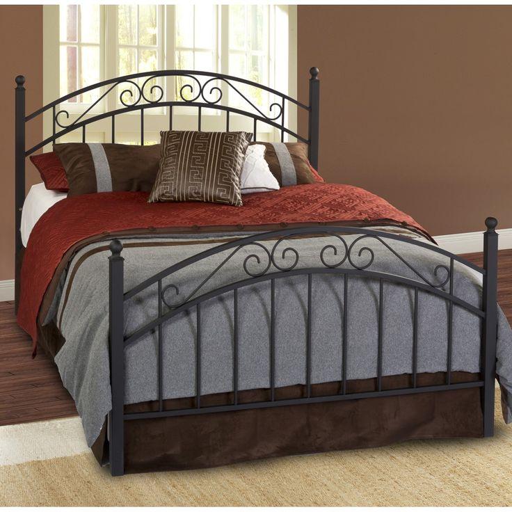 Queen Willow Iron Bed in Textured Black