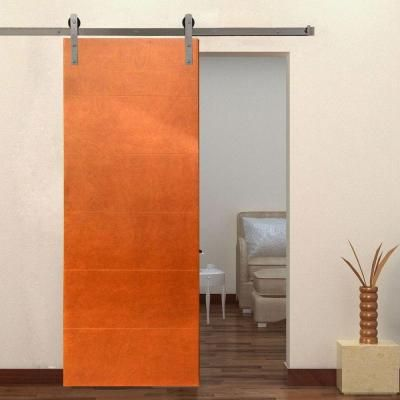 Steves Sons Modern Stained Hardwood Interior Door Slab With Sliding Door Hardware Bdfhw Awst